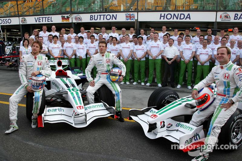 Jenson Button, Honda Racing F1 Team, Alexander Wurz, Test Driver, Honda Racing F1 Team, Rubens ...