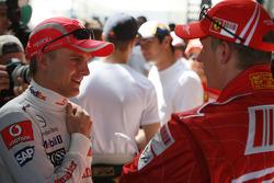 Heikki Kovalainen, McLaren Mercedes /  Kimi Raikkonen, Scuderia Ferrari / Drivers group picture 2008