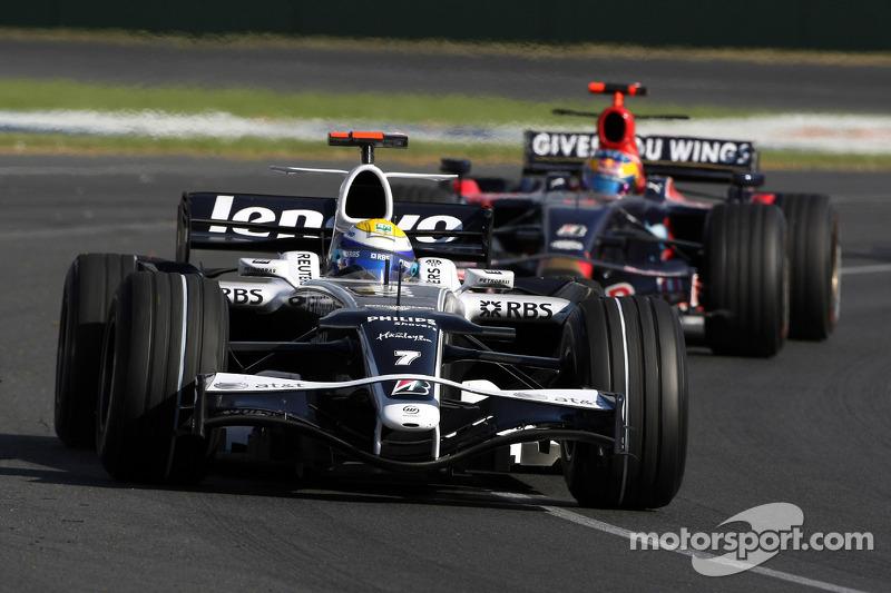Nico Rosberg, WilliamsF1 Team, Sébastien Bourdais, Scuderia Toro Rosso