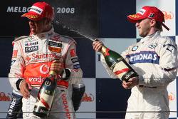 Nick Heidfeld, BMW Sauber F1 Team, Lewis Hamilton, McLaren Mercedes, Nico Rosberg, WilliamsF1 Team