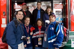 Carl Edwards with Office Depot guests