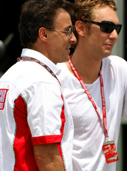 Jean Alesi and Mathias Lauda