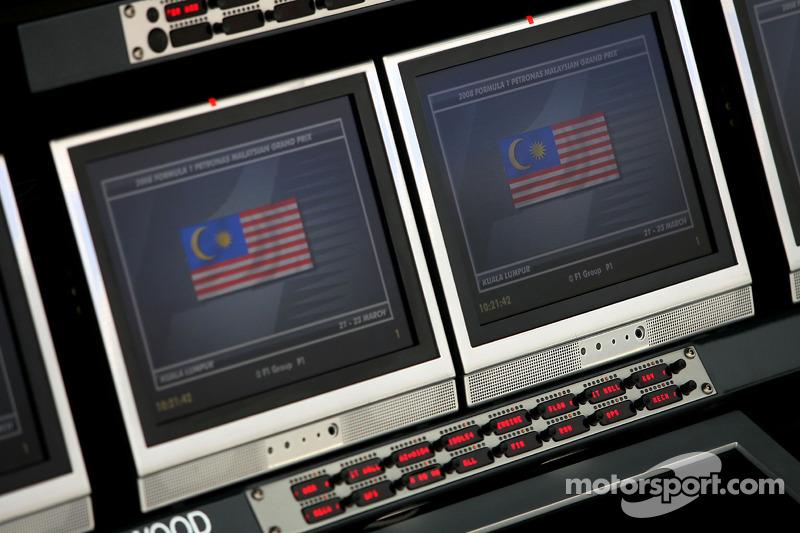 McLaren pitwall screens