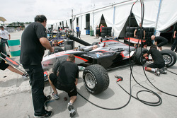 The Fisichella Motor Sport International team practice pit stops