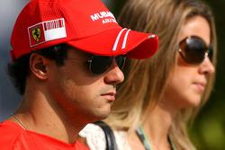 Felipe Massa, Scuderia Ferrari and his wife Rafaela