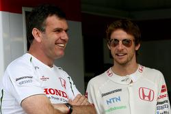 Alistair Gibson, Honda Racing F1 Team, Chief Mechanic and Jenson Button, Honda Racing F1 Team