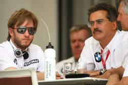 Nick Heidfeld, BMW Sauber F1 Team and Dr. Mario Theissen, BMW Sauber F1 Team, BMW Motorsport Director
