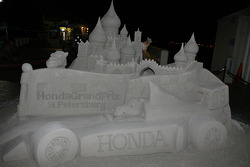 Honda inspired sandcastle