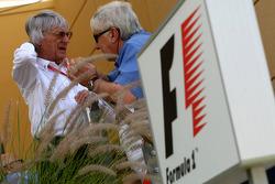 Bernie Ecclestone and Herbie Blash, FIA Observer