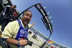 NASCAR Scene Photo Editor, David Griffin, takes a break from shooting