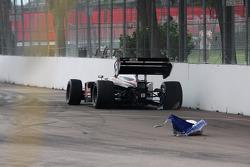 Andrew Prendeville crashes