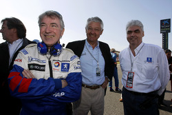 Michel Barge with ACO's Jean-Claude Plassart and Peugeot CEO Jean-Philippe Collin