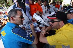 Fiesta en la ciudad de Puebla con pilotos y equipos. Alain Menu, Chevrolet, Chevrolet Lacetti
