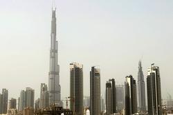 The tallest building in the world Burj Dubai in Dubai