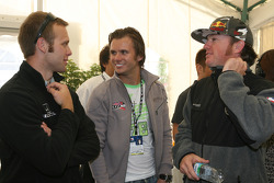 Honda Welcome Party: Ed Carpenter, Dan Wheldon and Buddy Rice