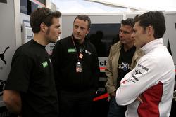 Roldan Rodriguez with Giancarlo Fisichella and Paolo Coloni, Fisichella Motor Sport International Team principal