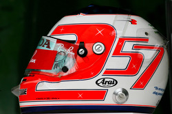 Helmet of Rubens Barrichello, Honda Racing F1 Team