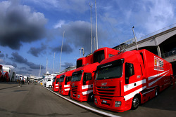 Scuderia Ferrari trucks