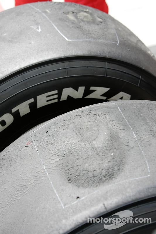 Milos Pavlovic damaged tyres