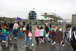 IndyCar Series fans enjoy the many festivities located around Indianapolis Motor Speedway