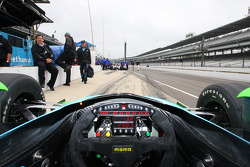 A view of what it looks like for an IndyCar Series driver