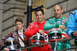Marco Andretti, Helio Castroneves and Tony Kanaan