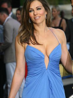 Liz Hurley Amber Fashion which benefits the  Elton John Aids Foundation