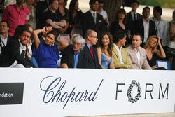 Slavica Ecclestone, Wife to Bernie Ecclestone with Bernie Ecclestone Amber Fashion which benefits the  Elton John Aids Foundation