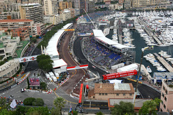 A scenic view of Monte-Carlo during the practice session