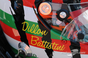 Dillon Battistini's helmet