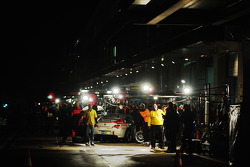 Pitlane night atmosphere