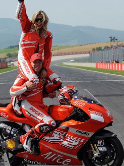 Maddalena Corvaglia and Randy Mamola