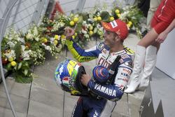 Podium : le vainqueur Valentino Rossi