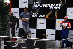 Podium: race winner Nigel Greensal, second place Ingo Gerstl, third place Karl-Hans Becker
