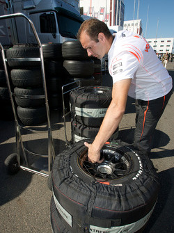 McLaren Mercedes team member at work