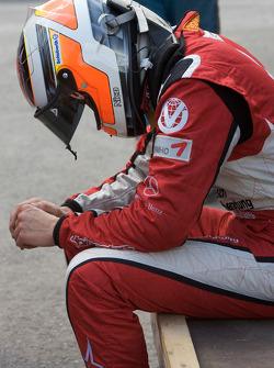Nico Hulkenberg after his crash