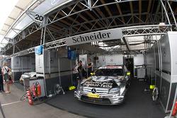 Team HWA AMG Mercedes, AMG Mercedes C-Klasse of Bernd Schneider ready for the race