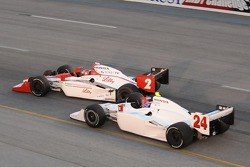 John Andretti makes contact with A.J. Foyt IV