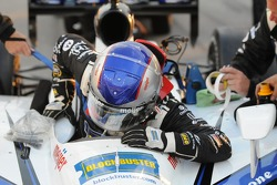 Marco Andretti getting in the car