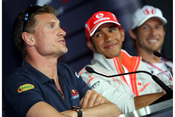 FIA press conference: David Coulthard, Red Bull Racing and Lewis Hamilton, McLaren Mercedes and Jenson Button, Honda Racing F1 Team