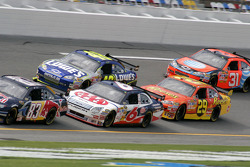 David Ragan, Jimmie Johnson, Kevin Harvick and Jeff Burton