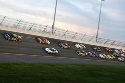 Brad Coleman leads a group of cars
