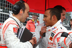 Phil crew and Lewis Hamilton, McLaren Mercedes