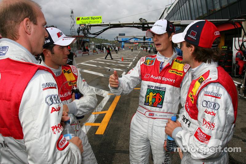 Audi driver Alexandre Prémat, Audi Sport Team Phoenix, Mike Rockenfeller, Audi Sport Team Rosberg, O