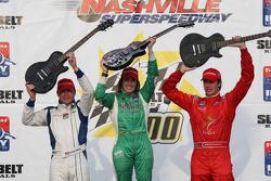 Podium: race winner Ana Beatriz with Bobby Wilson and Arie Luyendyk Jr.