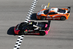 #173 Ineco - MP Racing Ferrari 458: Corinna Gostner and #377 Miller Motor Cars Ferrari 458: Joe Courtney