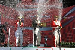 Gara 1 Pirelli NA, il podio: primo #238 The Collection Ferrari 458: Gregory Romanelli, secondo #259 Ferrai of Fort Lauderdale Ferrari 458: John Farano, terzo #277 Ferrari of Quebec Ferrari 458 Emmanuel Anassis