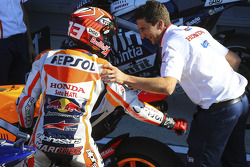 Second place qualifier Marc Marquez, Repsol Honda Team