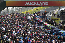 Atmosphere on the starting grid