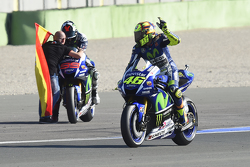 Valentino Rossi, Yamaha Factory Racing and winner and 2015 World Champion Jorge Lorenzo, Yamaha Fact